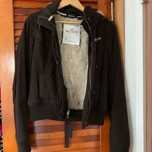 Hollister Thermore anarak faux fur lined jacket